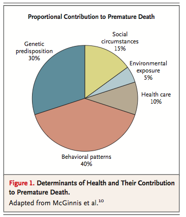 Determinants of Health and Their Contribution to Premature Death, New England Journal of Medicine, 2007