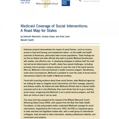 Medicaid Coverage of Social Interventions: A Road Map for States