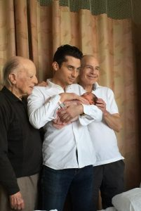 Four generations of sons from newborn to one hundred