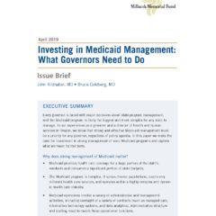 Investing in Medicaid Management: What Governors Need to Do