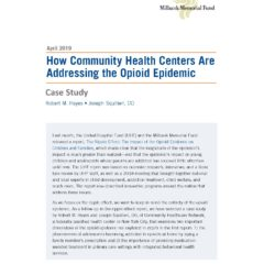New Case Study: How Community Health Centers Are Addressing the Opioid Epidemic